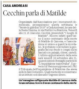 Gazzetta di Mantova 24 agosto 2015