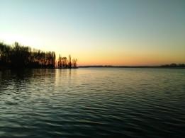 Tramonto sul lago superiore